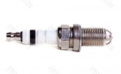 Spark plug isolated on white background with clipping path