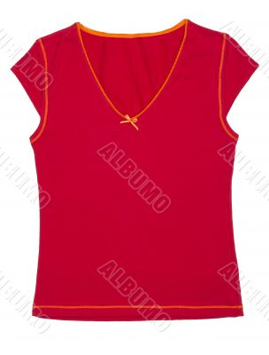 Women`s T-shirt sporting the red