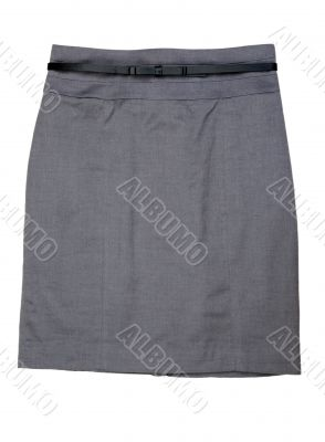 The classic gray women`s skirt