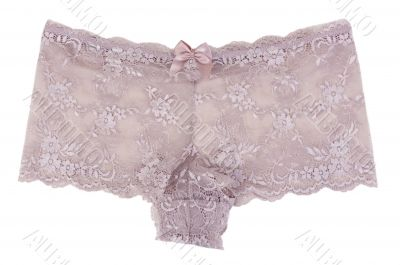 Beige Women`s lace panties