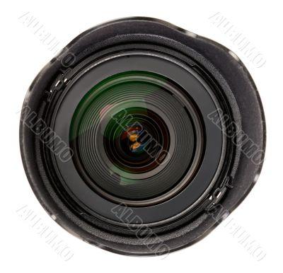 Black lens with a hood