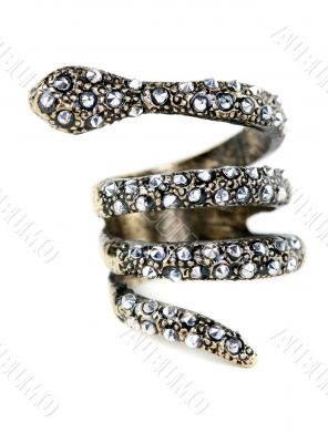 A ring with stones in the form of a snake