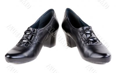 A pair of black women`s shoes