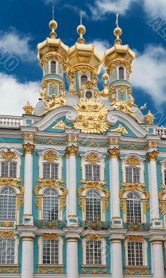 Catherine Palace in czar village of St Petersburg, Russia