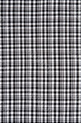 Black and white checkered cloth