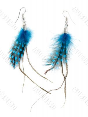 A pair of ladies earrings from feather