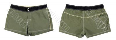 Collage men`s briefs khaki shorts