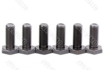 Bolts coated with protective varnish