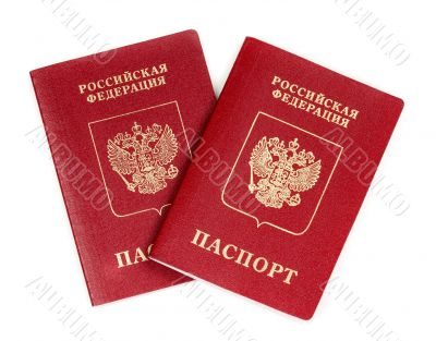 Two Russian international passport