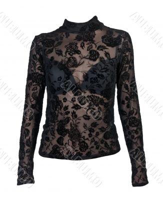 erotic black women`s blouse