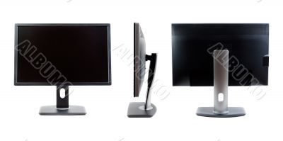 Collage of IPS LCD monitor, the three species.