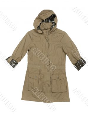 Fashionable women`s jacket with a hood