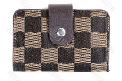 Brown plaid purse in retro style