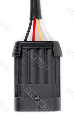 Plastic four-contact electrical connector for the car
