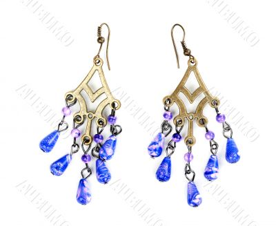 earrings in ethnic style