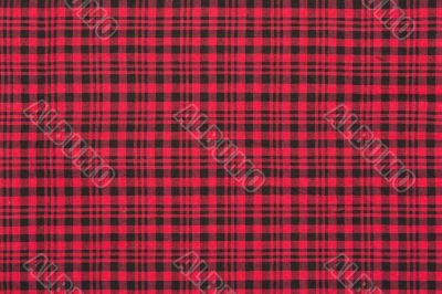 The red checkered cloth background