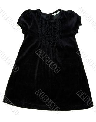 Black children`s dress