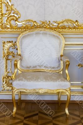 Antique gilded chair