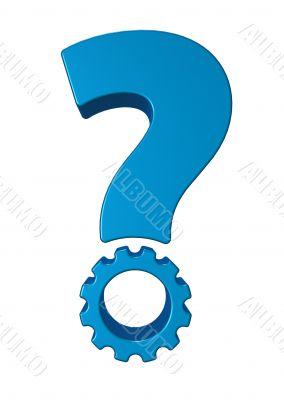 gear wheel question mark