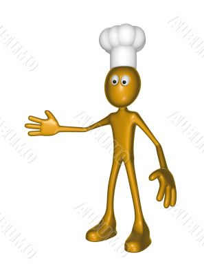 cartoon guy with cook hat