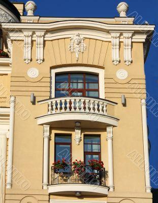 Facade of  yellow building