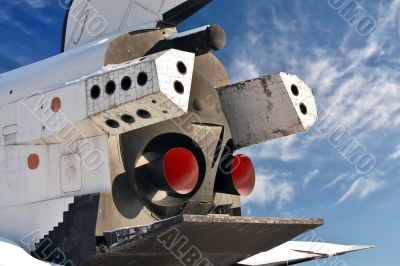 Spacecraft, rear view