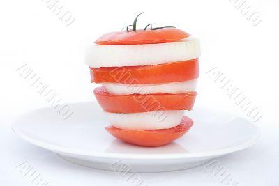 Fresh Sliced Tomato and Onion