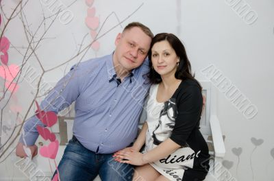Pregnant girl and her boyfriend