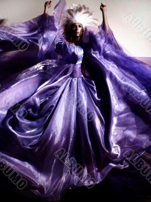 girl in a dress of Queen