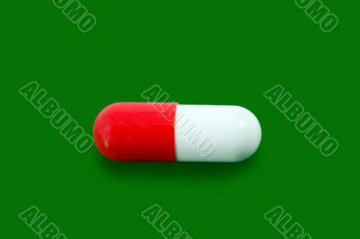 red pill capsule isolated