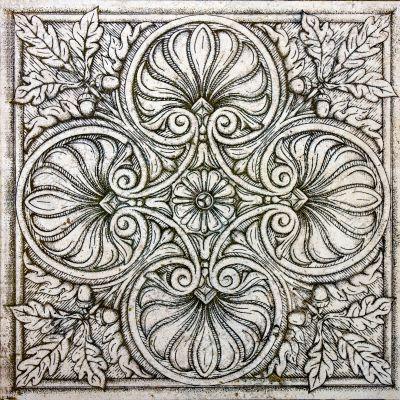 old ornamental vintage tile