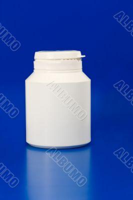 white plastic medicine container