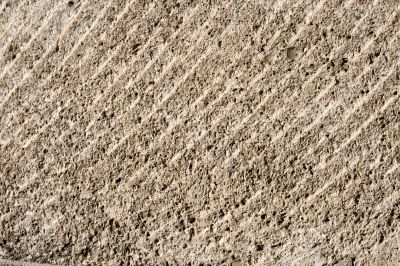 Horizontal closeup of plowed ground