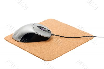 computer mouse on pad