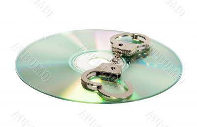 Cd with handcuffs