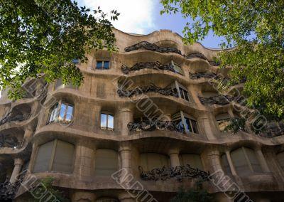 Casa Mila details facade
