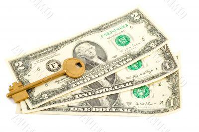 key in dollar