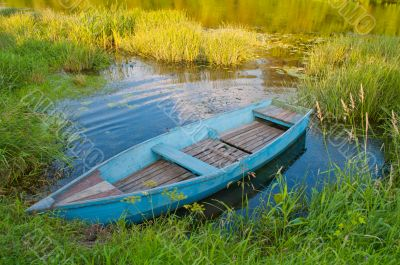 Boat in a grass