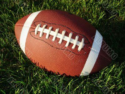 Football on Tall Grass