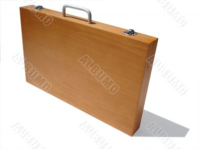 Wooden Art Case with Clipping Path