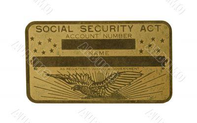Brass Social Security Car