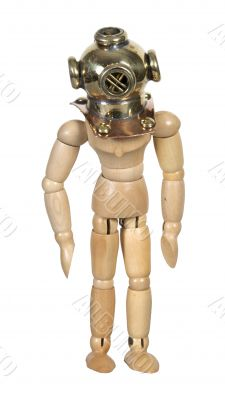 Wearing a Deep Sea Diving Helmet