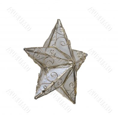 Pearled Star with Gold Trim