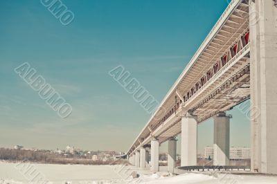 The bridge through Volga