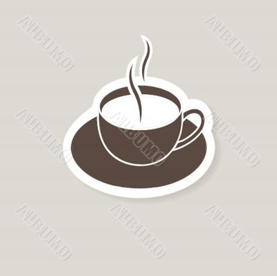 Cup of coffee. Vector illustration for bar or cafe
