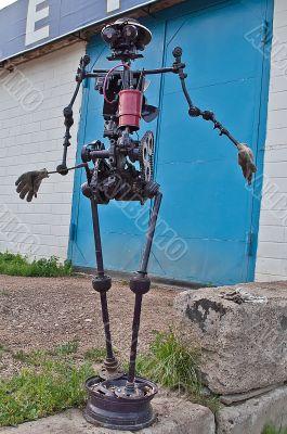 The robot from scrap metal