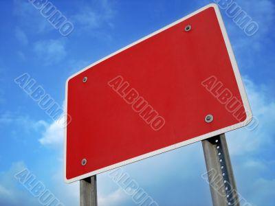 Blank Wrong Way Sign