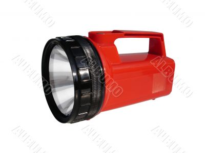 Camping Flashlight on White with Clipping Path