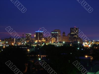 Dayton Ohio Skyline at Night