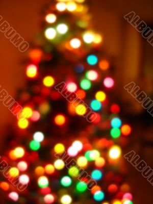 Christmas Tree Lights Background Blur